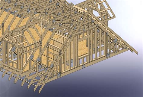 frame stairs  attic trusses construction attic truss attic garage stairs