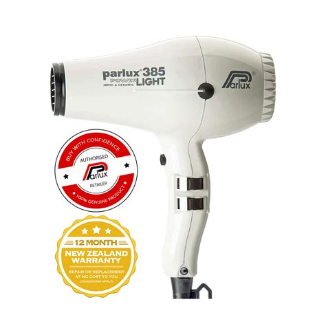 White Hair Dryer parlux 385 powerlight hair dryer white the lounge