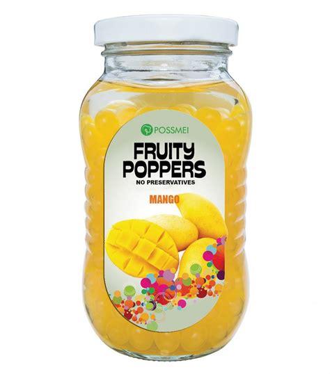 Mango Popping Boba   Small Jar   Popping Bobas