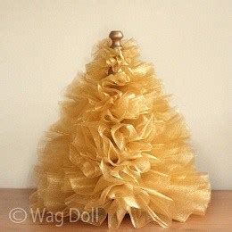 tutorial gathered tulle mini christmas tree sewing