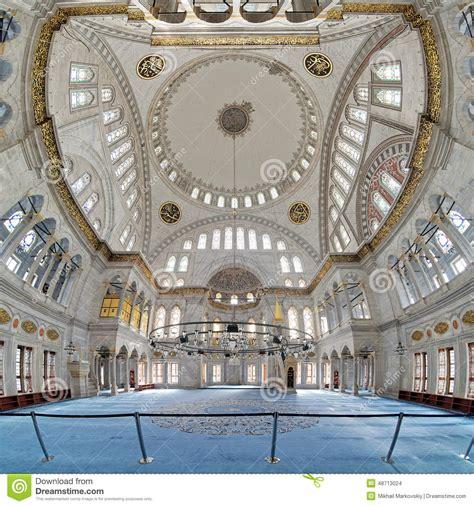 interior photo interior of nuruosmaniye mosque in istanbul stock photo