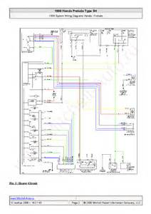 honda prelude type sh 1999 wiring diagrams sch service manual schematics eeprom