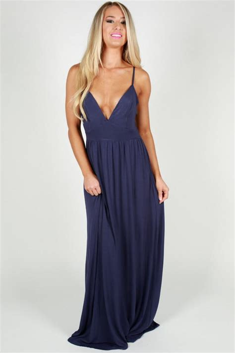 Zanana Maxi Navy Sweat Shop back for more maxi in navy impressions boutique