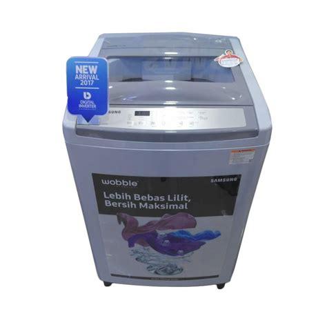jual samsung wa10m5120sg mesin cuci abu abu top load 10kg