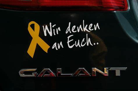 Kfz Gelber Aufkleber by Autoaufkleber Gelbe Schleife Shop