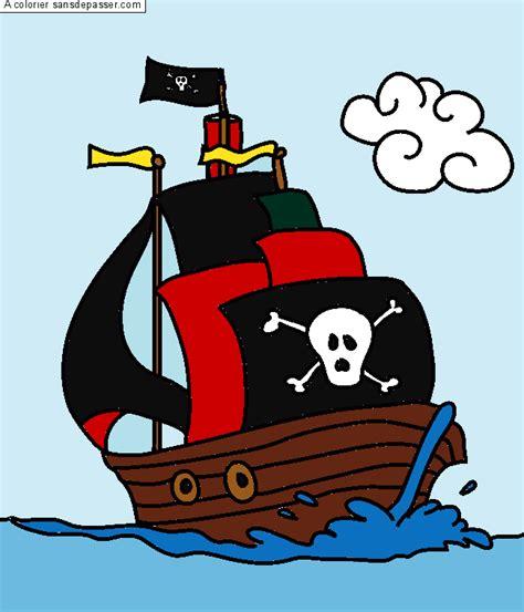 dessin bateau rouge coloriage bateau pirate sans d 233 passer