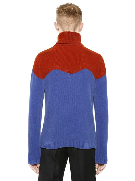 Two Tone Turtleneck Sweater j w two tone turtleneck sweater in blue for