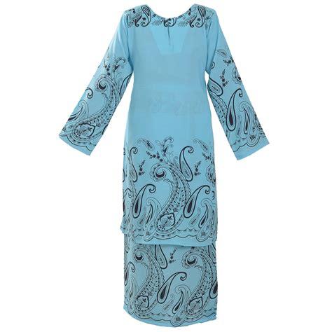 Baju Batik Cotton cotton silk baju kurung pahang batik nusantara baju kurung pahang handani 7492 b2 blue