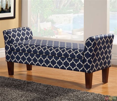 storage bench fabric contemporary tapered leg fabric upholstered storage bench