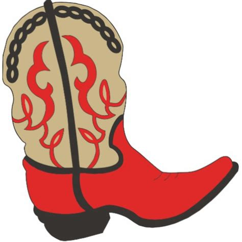 cartoon boat cut out red cowboy boot acrylic cut outs zazzle