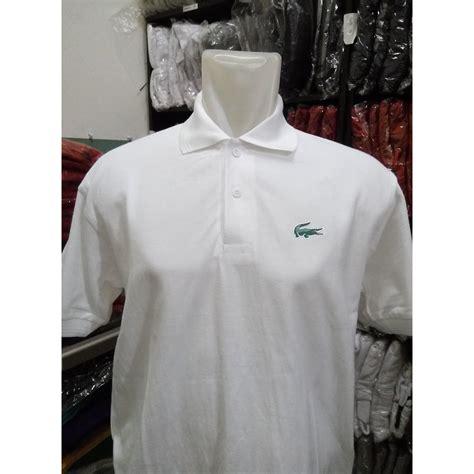 Kaos Kerah Polo Shirt polo shirt kaos kerah lacoste putih elevenia