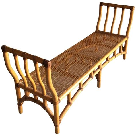 bamboo bench bamboo rattan end of bed bench chinoiserie palm beach