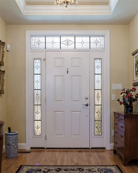 Exterior Doors With Sidelights And Transoms Sidelights And Transom Traditional Front Doors Richmond By Decorative Glass Solutions
