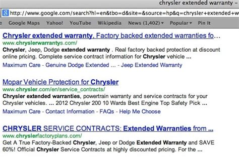 Chrysler Extended Warranty Cost by Chrysler Extended Warranty Does It Even Exist