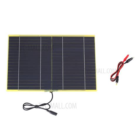 Solar Panel Monocrystalline 10w 18v With Dc Connector sunwalk 10w 18v polycrystalline silicon solar panel with 2 1mm x 5 5mm dc and battery cl
