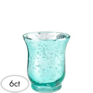 Teal Votive Candle Holders by Teal Hurricane Mercury Glass Votive Candle Holders 6ct