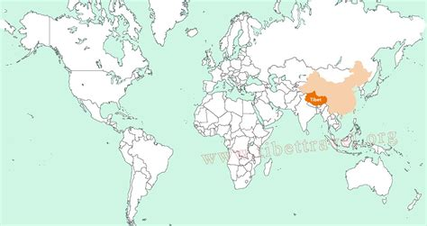 on the map where is tibet located on map of china asia and world