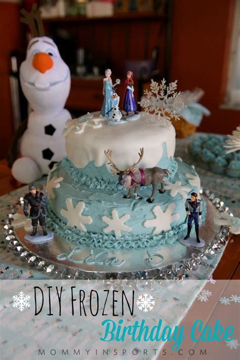 diy cake diy frozen birthday cake