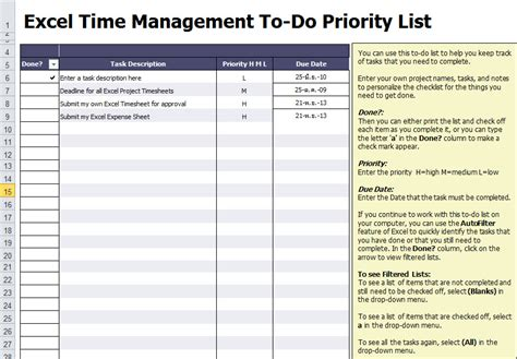 To Do List Excel Template Free To Do List Excel List Templates Free
