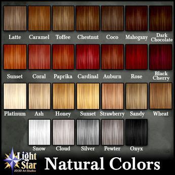 ginger hair chart shades of red hair chart google search hair color names