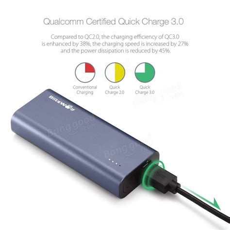 Power Bank Qualcomm Charge 3 0 qualcomm certified blitzwolf 174 bw p4 5200mah charge