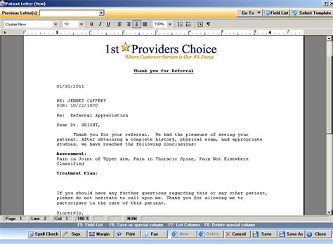 Insurance Emr Letter health record template tolg jcmanagement co