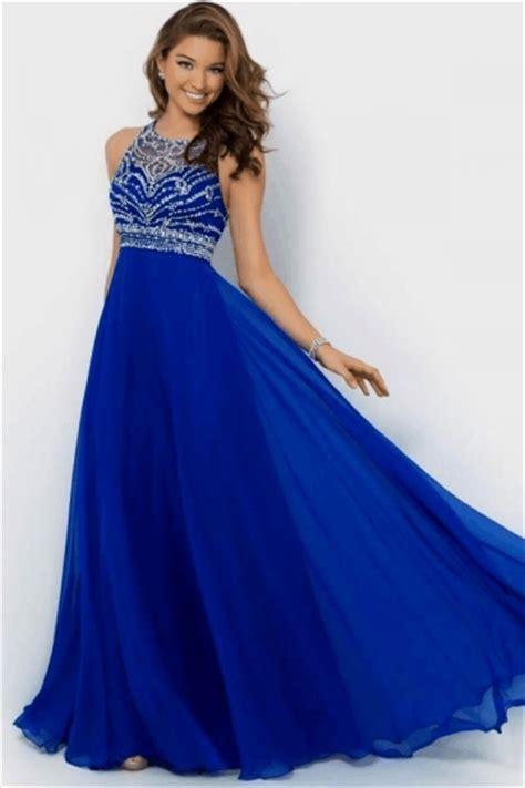 Dress Import Blue sapphire blue lace backless patchwork evening