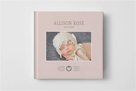 baby photo book template photo book cover template for photographers baby book