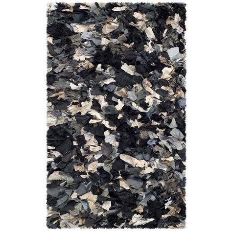 black gray rug safavieh shag black gray area rug reviews wayfair