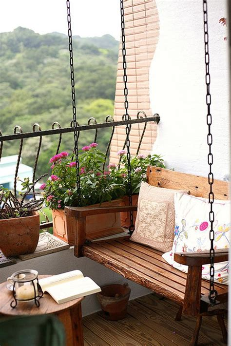balcony swing 55 apartment balcony decorating ideas art and design