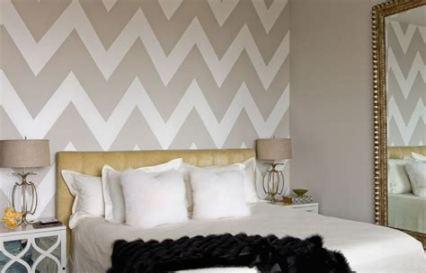 chevron decorations for bedroom how to wallpaper a space using a chevron pattern