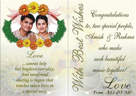 Marriage Greeting Card Templates by 8 Marriage Greeting Cards Designs Templates Free