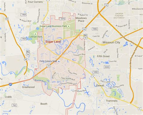 sugar land texas map katy vs sugar land