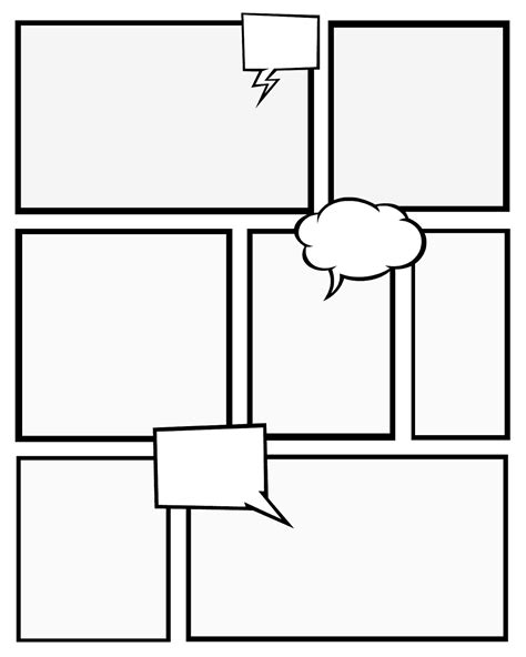 Comic Strip Template Tryprodermagenix Org Comic Frames Template