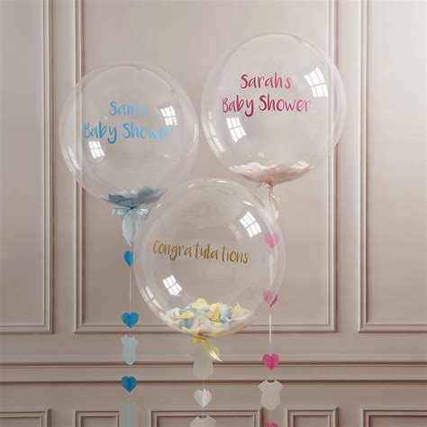 Baby Boy Balloons For Baby Shower by Personalised Baby Shower Confetti Balloon By Bubblegum