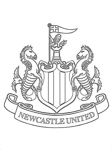 Utd Colouring Pages Kleurplaat Van Newcastle United Fc Logo Gratis Kleurplaten by Utd Colouring Pages
