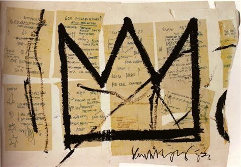 basquiat crown tattoo crown 1983 jean michel basquiat wikiart org