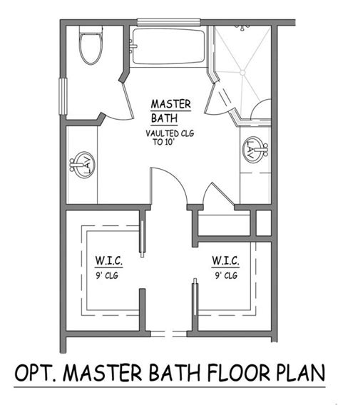 Bathroom Layout Designs I Like This Master Bath Layout No Wasted Space Efficient Separate Closets Plus Linen