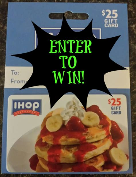 Ihop Gift Card - enter to win a 25 ihop restaurant gift card