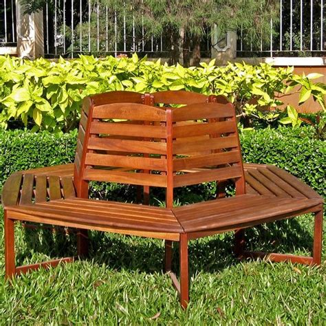 outdoor trunk bench international caravan acacia sectional 6 sided tree trunk