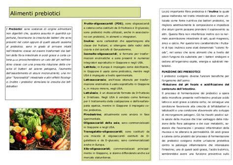 prebiotici alimenti alimenti prebiotici