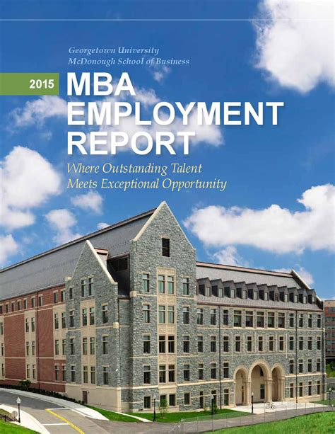 2015 Of Arizona Mba Employment Report by 2015 Mba Employment Report By Georgetown
