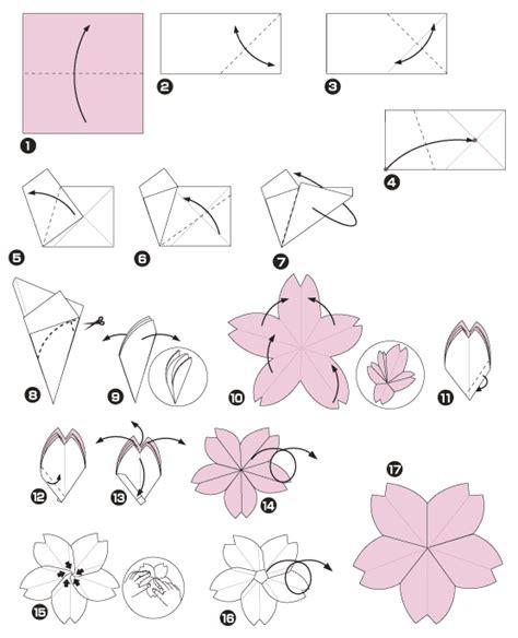 Fleur Origami - diagramme d origami de cerisier du japon http www chine
