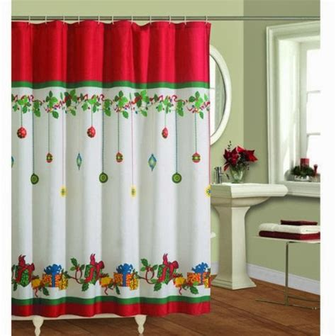 holiday shower curtain changing seasons easy winter holiday bathroom decor