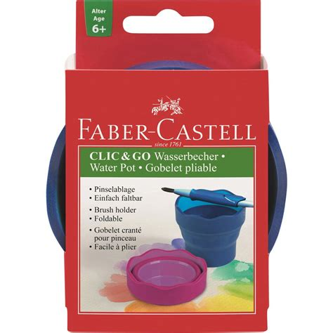 Faber Castell Water Cup Graphic faber castell water cup click go blue octer 163 3 90