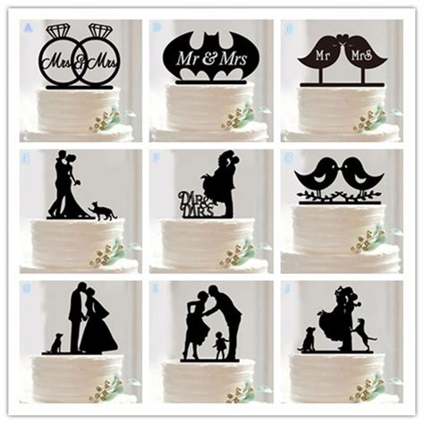 Wedding Cake Accessories by 10 Style Optional Acrylic Wedding Cake Topper Wedding Cake