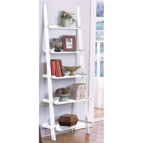 ladder bookshelves white ladder bookcase ikea ideas
