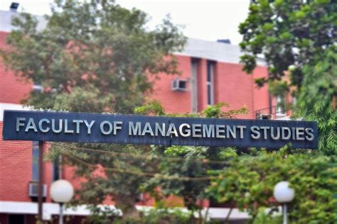 Delhi School Of Economics Mba Admission by Of Delhi Faculty Of Management Studies Fms