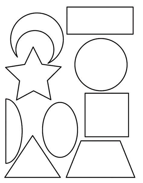 shapes coloring pages basic shape triangle etc