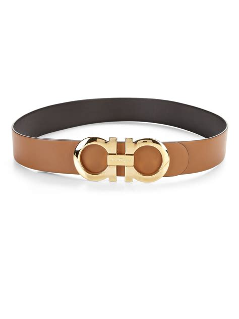 ferragamo pallisandro large reversible leather belt in